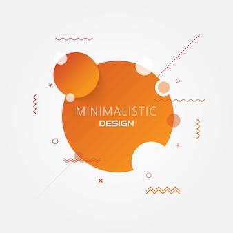 Abstracte minimale cirkel moderne achtergrond.