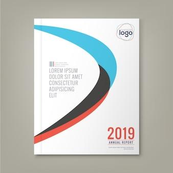 Abstracte minimale gebogen vormen ontwerp achtergrond sjabloon voor het bedrijfsleven jaarverslag boekomslag brochure flyer poster