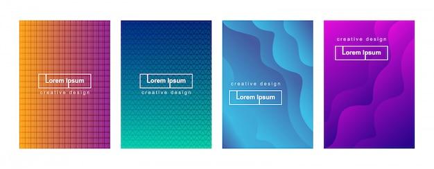 Abstracte minimale geometrische gradiënt dekking achtergrond sjabloon set