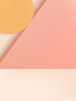 Abstracte minimale geometrische studio-opname achtergrond voor productweergave