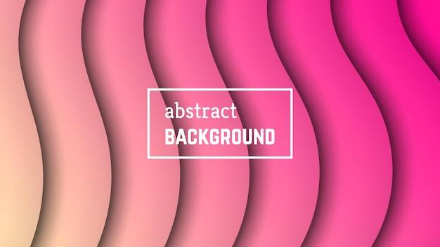 Abstracte minimale golf geometrische achtergrond. roze golflaagvorm voor banner, sjablonen, kaarten. vector illustratie.