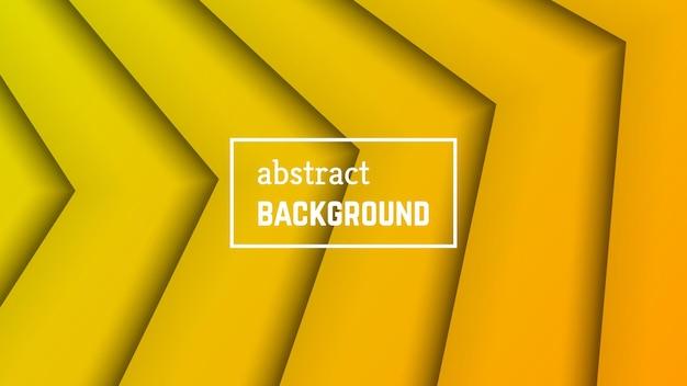 Abstracte minimale lijn geometrische achtergrond. gele lijnlaagvorm voor banner, sjablonen, kaarten. vector illustratie.