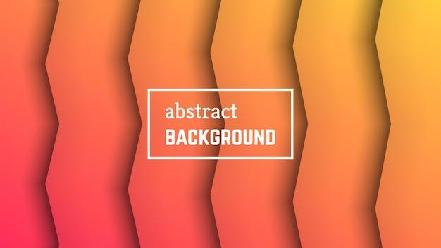 Abstracte minimale lijn geometrische achtergrond. oranje lijnlaagvorm voor banner, sjablonen, kaarten. vector illustratie.