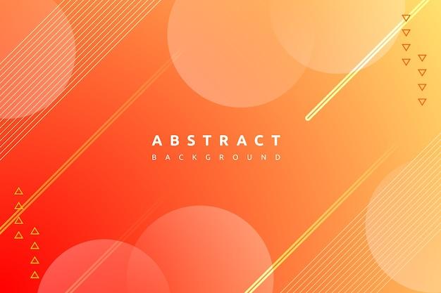 Abstracte minimale oranje vorm met kleurrijke gradiëntachtergrond