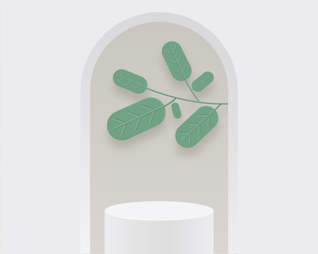 Abstracte minimale scèneachtergrond met geometrische vormen. ontwerp voor productpresentatie.