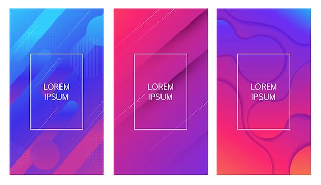 Abstracte minimale verloop vormen geometrische achtergrond. illustratie