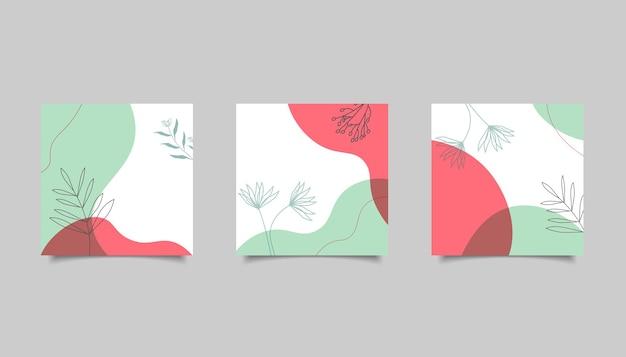 Abstracte minimalistische achtergrond voor post op sociale media