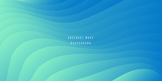 Abstracte minimalistische blauwe golvende achtergrond met kleurovergang