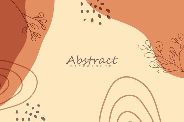 Abstracte minimalistische natuurlijke handgetekende achtergrond