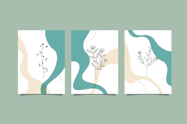 Abstracte minimalistische omslag met de hand getekend