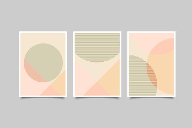 Abstracte minimalistische omslagcollectie