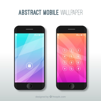 Abstracte mobiele wallpapers