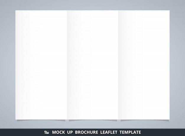 Abstracte mock up witte brochure folder sjabloon