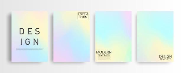 Abstracte mockup pastel kleurrijke gradiënt achtergrond a4 concept voor uw grafische kleurrijke lay-out sjabloon voor brochure