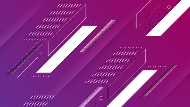 Abstracte moderne achtergrond met levendig paars roze kleurverloop en memphis element