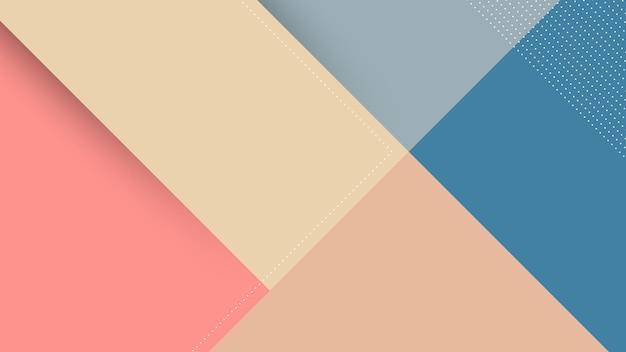 Abstracte moderne achtergrond met memphis papercut-stijl en roze pastelkleur
