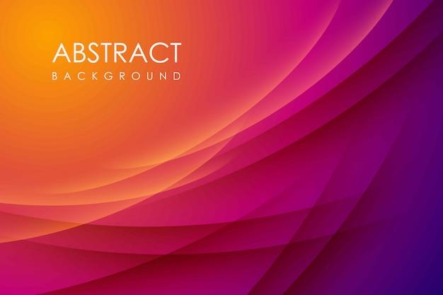 Abstracte moderne achtergrondverloopkleur. geel en roze verloop met schaduw decoratie.