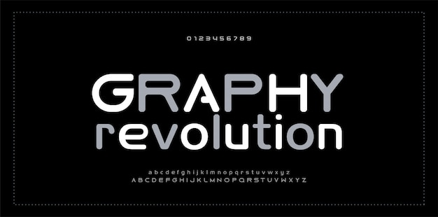 Abstracte moderne alfabet nummer lettertype typografie