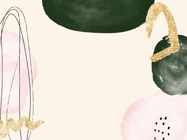 Abstracte moderne aquarel achtergrond voor website kaart stationaire uitnodiging kunst aan de muur