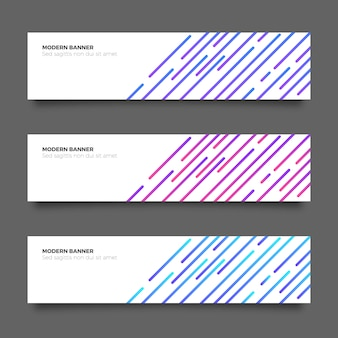 Abstracte moderne banner collectie met lijnen