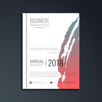 Abstracte moderne business brochure sjabloon