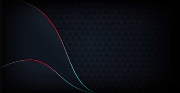 Abstracte moderne donkere achtergrond met regenboog kleurrijke lijn