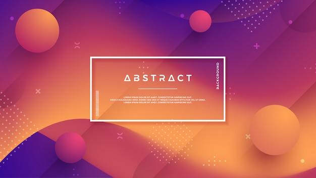 Abstracte, moderne, dynamische, trendy gradiëntachtergrond