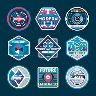 Abstracte moderne geïsoleerde badge set