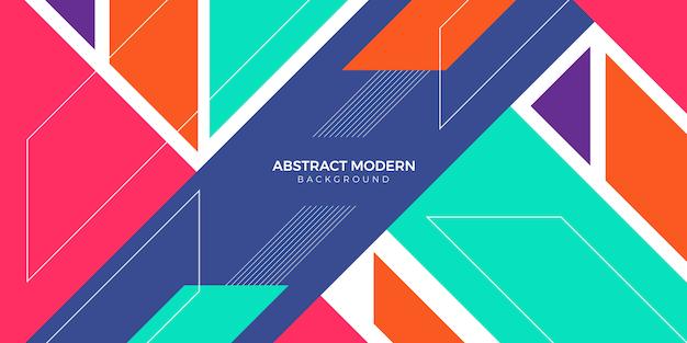 Abstracte moderne geometrische bannerachtergrond