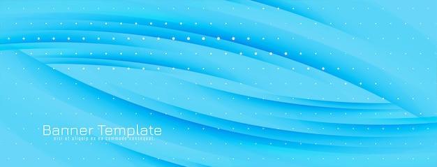 Abstracte moderne golvende lijnenbanner