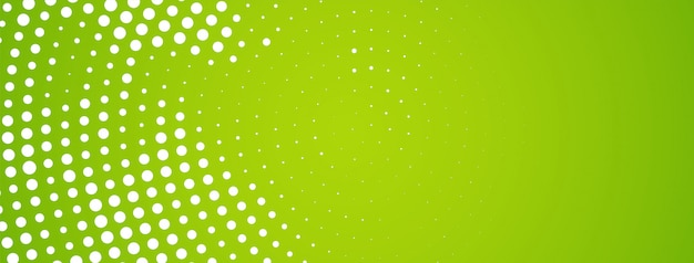 Abstracte moderne halftone ontwerp groene banner