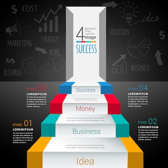 Abstracte moderne infographic sjabloon