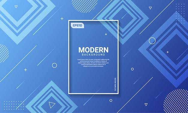 Abstracte moderne kleuren gradiënt geometrische vorm