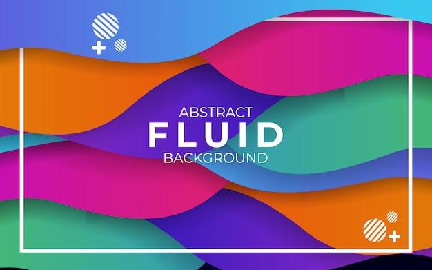 Abstracte moderne kleurrijke golvende vloeistof en vloeibare achtergrond