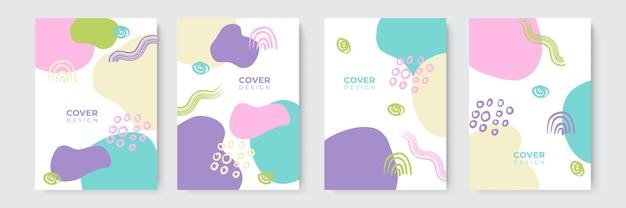 Abstracte moderne kleurrijke voorbladsjablonen