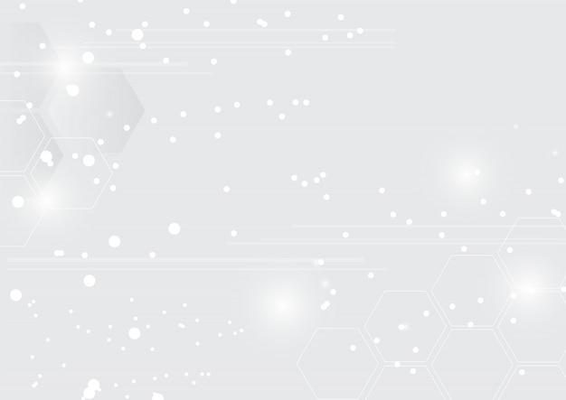 Abstracte moderne lichte achtergrond met zeshoeken.