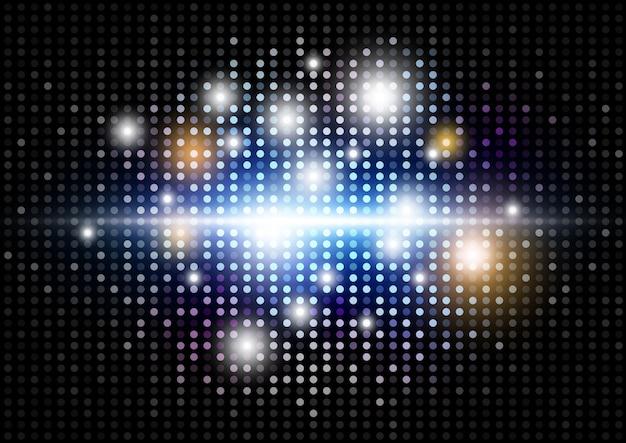 Abstracte moderne lichte discoachtergrond