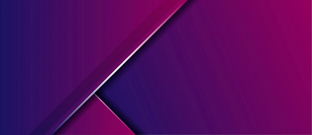 Abstracte moderne luxe blauwe paarse gradiënt met overlap lagen banner achtergrond