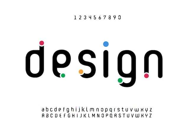 Abstracte moderne minimale alfabet lettertypen. typografie stedelijke stijl voor plezier, sport, technologie, mode, digitaal, toekomstig creatief logolettertype
