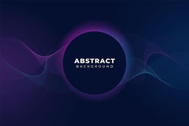 Abstracte moderne technologie achtergrond futuristische golvende lijn gloed blauw roze