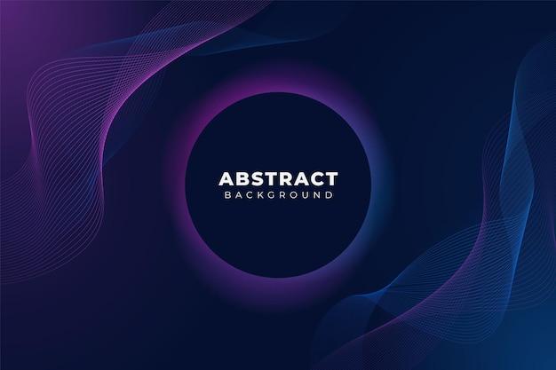 Abstracte moderne technologie achtergrond golvende lijn gloed blauw roze