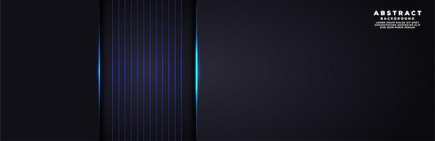 Abstracte moderne technologie futuristische donkergrijze achtergrond met blauwe lichte lijn
