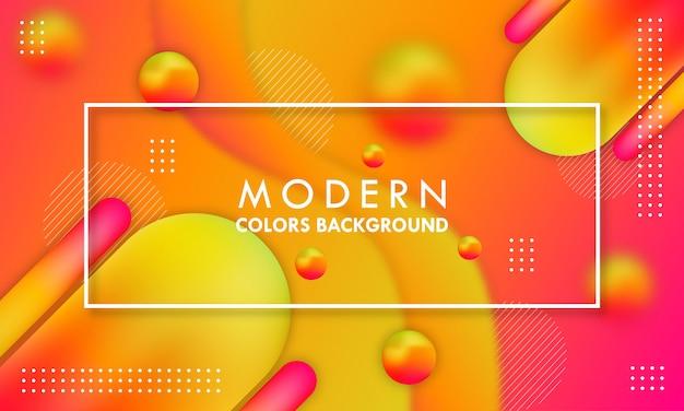 Abstracte moderne vloeibare 3d oranje achtergrond.