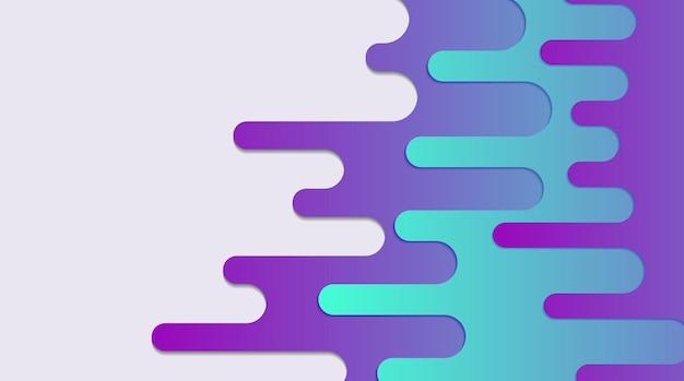 Abstracte, moderne, vormen, vloeistof, veelkleurig, violet, turkoois, grijs, kleurovergang behang achtergrond vectorillustratie