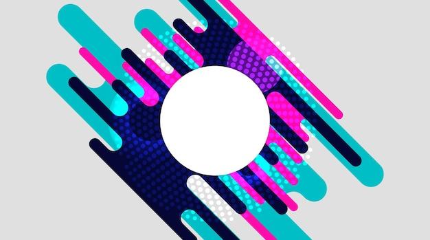 Abstracte, moderne, vormen, vloeistoffen, veelkleurig, donkerblauw, turkoois, roze gradiëntbehang achtergrond vectorillustratie