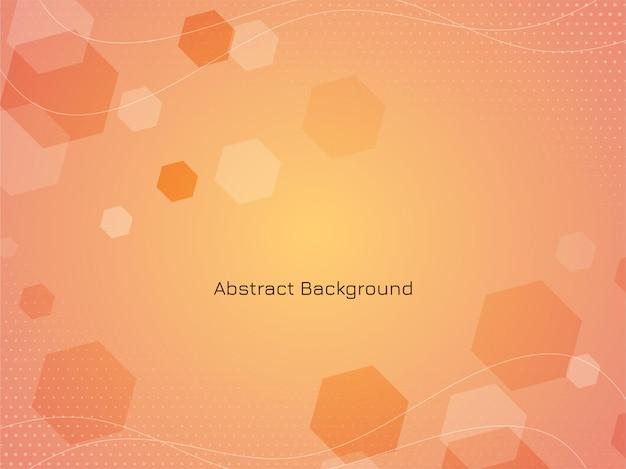 Abstracte moderne zeshoekige achtergrond