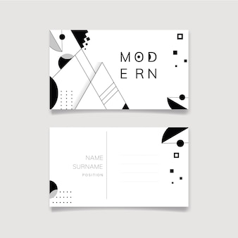 Abstracte moderne zwart-witte sjabloonreeks