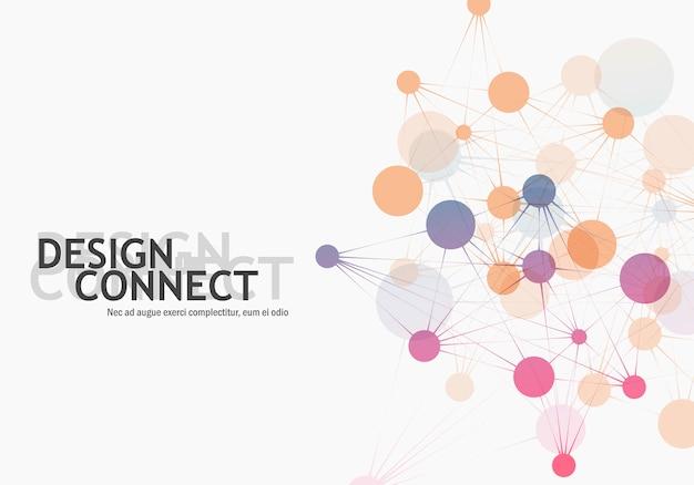 Abstracte moleculaire verbinding en technologie netwerkcellen