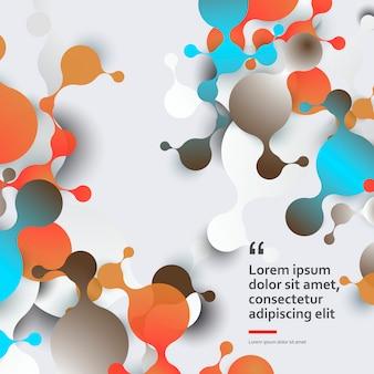 Abstracte moleculenachtergrond met celstructuur en dna-molecule