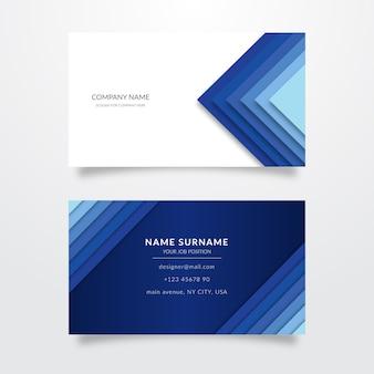 Abstracte monochromatische visitekaartjes